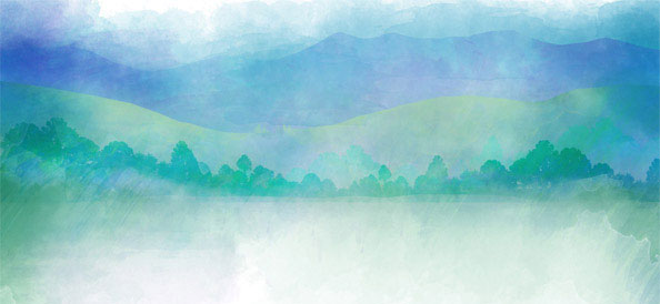 Green Nature Water Painting